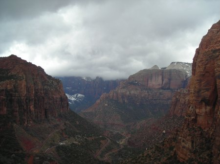 The view from the end of Canyon Overlook Trail.