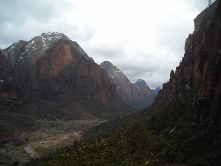 The view back up canyon from the Angel's Landing hike.