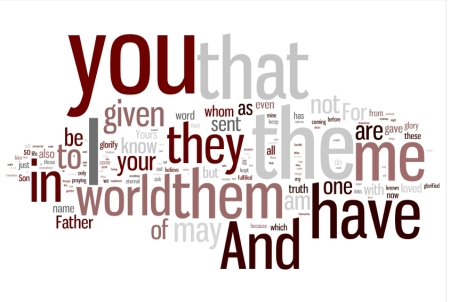 Wordle of the High Priestly Prayer